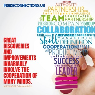 Great discoveries and improvements invariably involve the cooperation of many minds, insideconnections.us