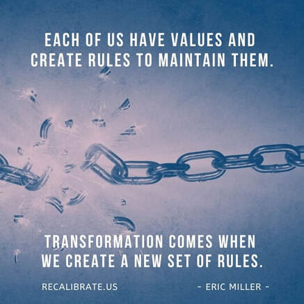 each of us have values and create rule to maintain them. Transformation comes when we create a new set of rules. #executivecoach